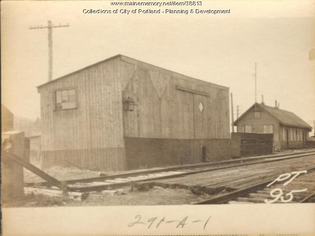 Railroad, Bishop Street, Portland, 1924