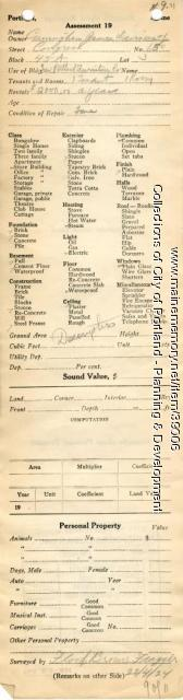 Assessor's Record, 650 Congress Street, Portland, 1924