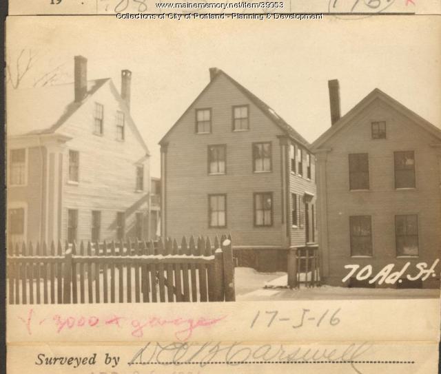 70 Adams Street, Portland, 1924