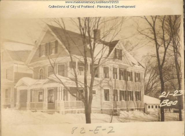 21-23 Beacon Street, Portland, 1924