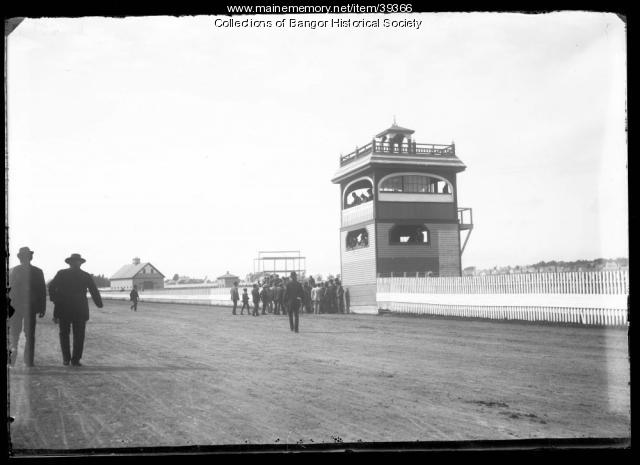 Viewing stand at Maplewood Park, Bangor, ca. 1895