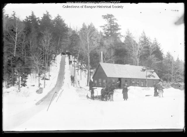 Tobogan Run in Winter, Bangor, ca. 1895