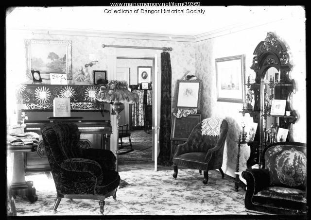 Interior of the Strickland-Dickey House, Bangor, ca. 1895
