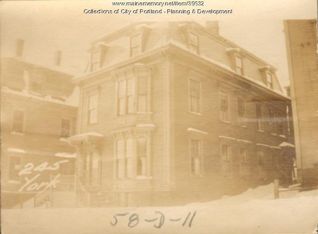 245 York Street, Portland, 1924