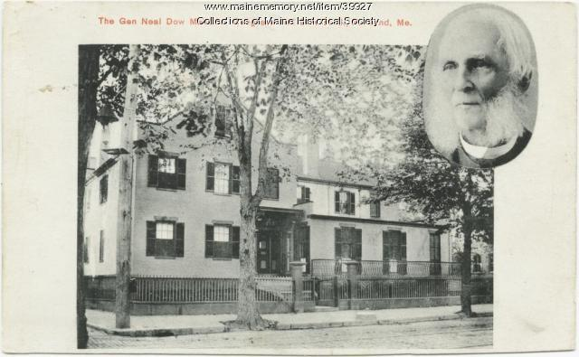 Neal Dow house, Portland, ca. 1900