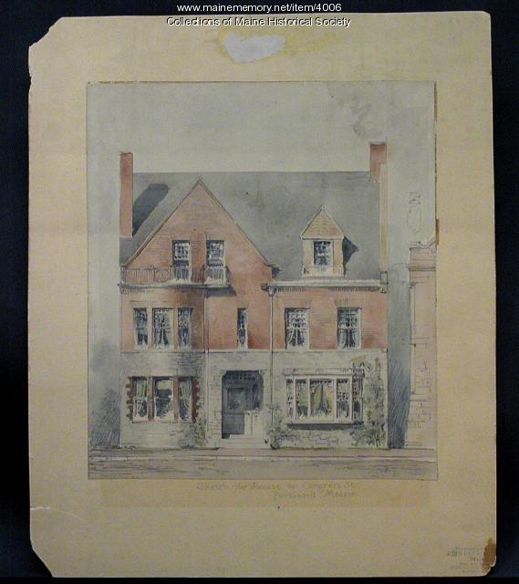 Sketch for house, Portland, 1887