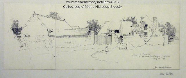 John Calvin Stevens' European travels, Near St. Gobain, France, 1892