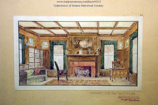 George T. Files house, Brunswick, 1910