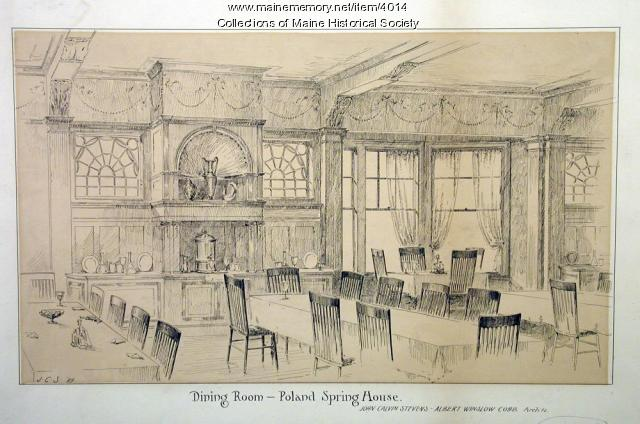 Dining room, Poland Spring,  ca. 1880
