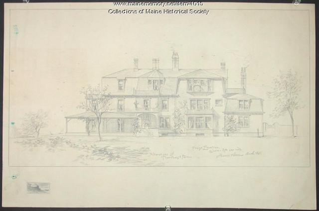 General John Marshall Brown's house, Falmouth Foreside, ca. 1888