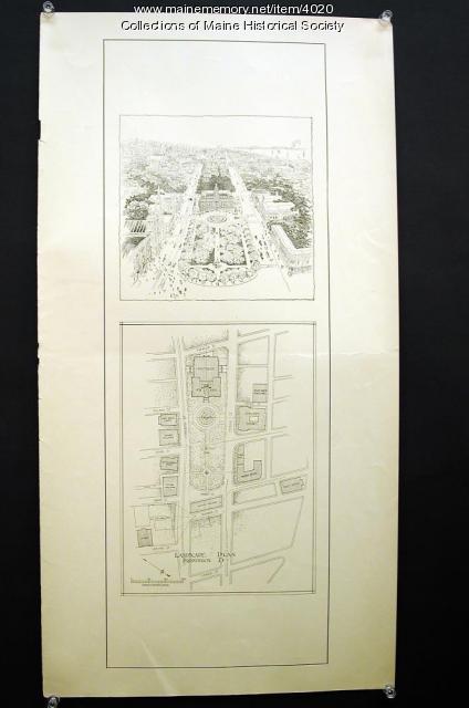City Hall site plan, Portland, 1908