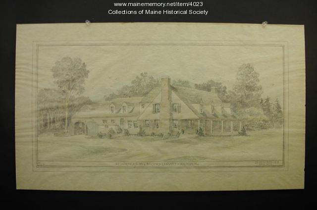 Leavitt residence, Wilton, ca. 1935