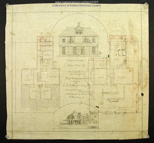 A.R. Wright cottage plans, Scarborough, 1881