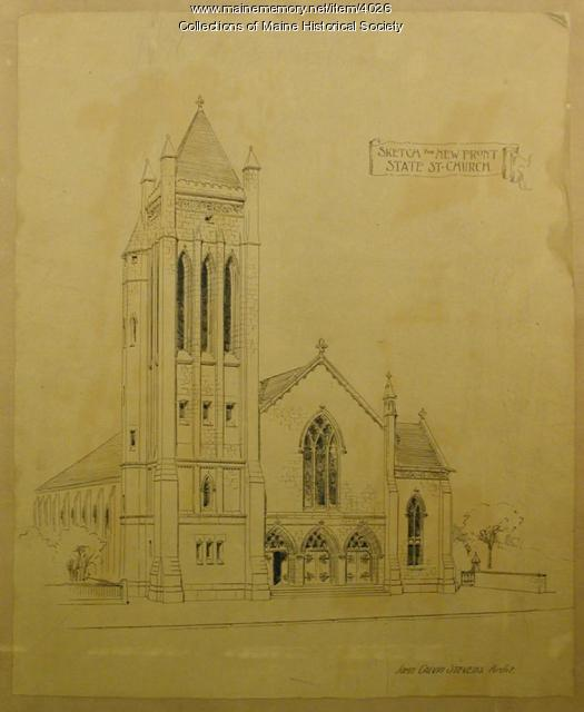 State Street Congregational Church presentation drawings