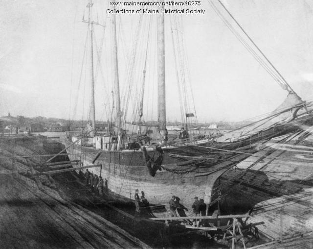 Dry dock, South Portland, ca. 1900