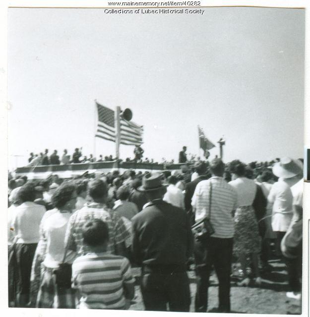 Roosevelt Bridge dedication, Lubec, 1962