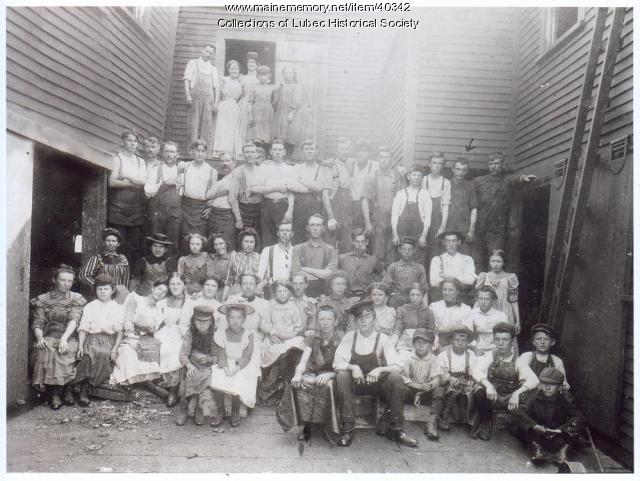 Lubec factory workers, Lubec, ca. 1905