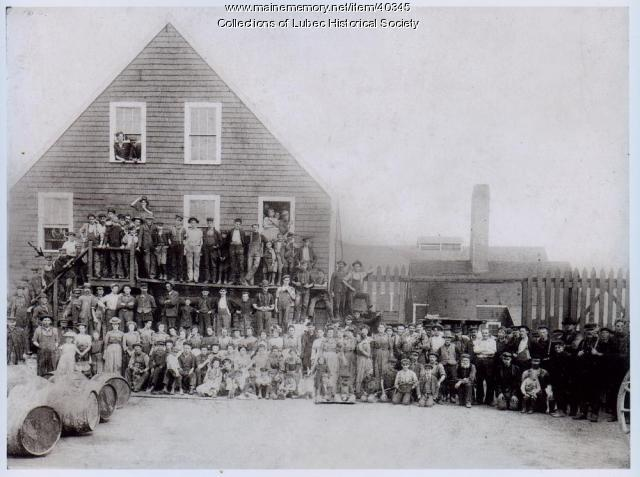 North Lubec factory workers, Lubec, ca. 1900
