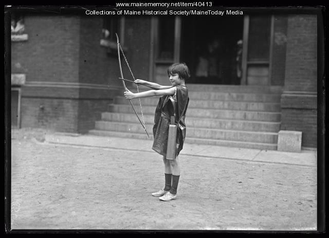 Girl with bow, Portland, 1924