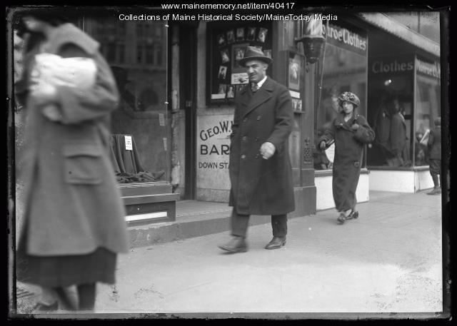 Street scene, Monument Square, Portland, ca. 1924