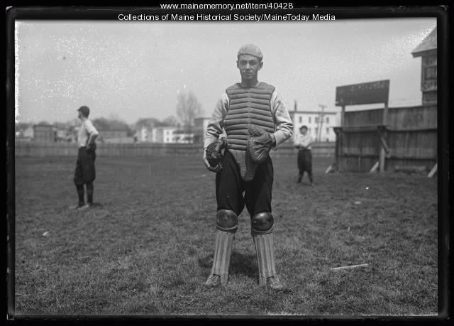 Baseball catcher, Biddeford, 1924