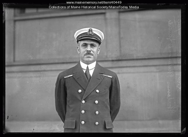 Lieut. Comm. A.D. D'Aleida, Portland, 1920