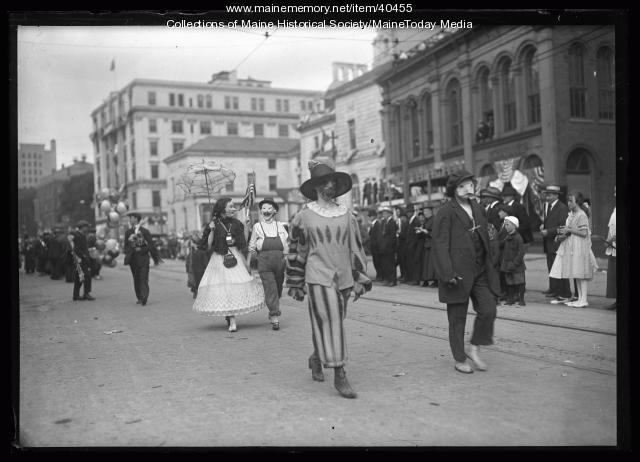 Maine Centennial parade, Parade of Horribles and Antiques, Portland, 1920