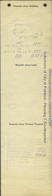 Assessor's Record, 18-22 Abbott Street, Portland, 1924