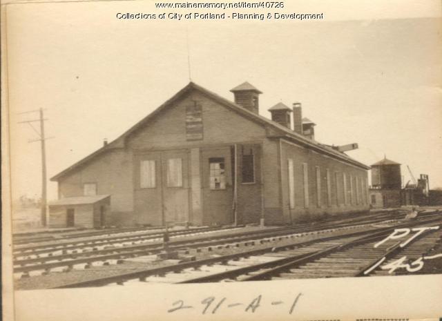 Railroad, Bishop Street, Portland, 1924