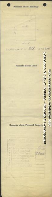 Assessor's Record, 11 Abbott Street, Portland, 1924