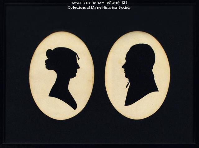 Silhouette of Zilpah and Stephen Longfellow
