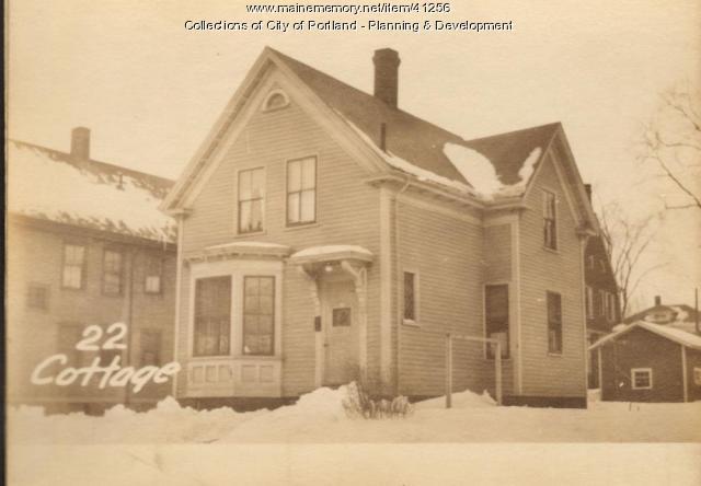 22 Cottage Street, Portland, 1924