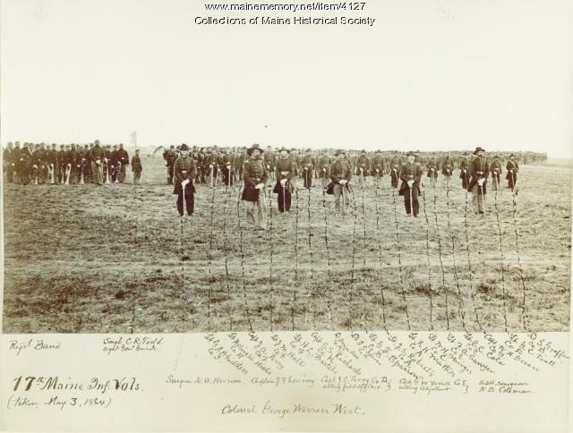 17th Maine Infantry volunteers, 1864