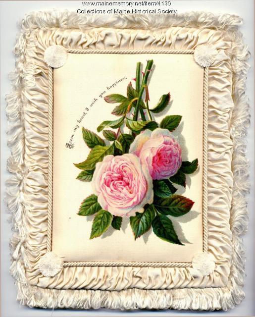 Soule fabric valentine, ca. 1882