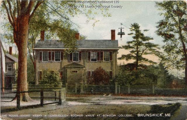 Henry W. Longfellow student lodging, Brunswick, ca. 1908