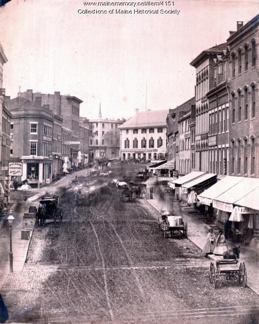 Middle Street, Portland, ca. 1880
