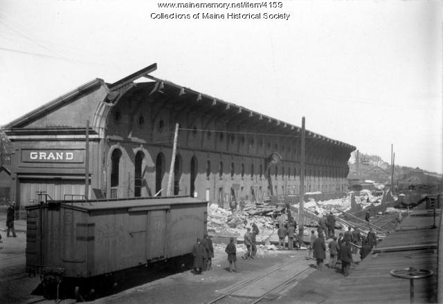 Grand Trunk station, Portland, ca. 1902
