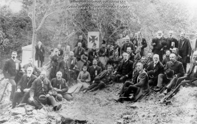 Chamberlain and 20th Maine, Gettysburg reunion, 1889