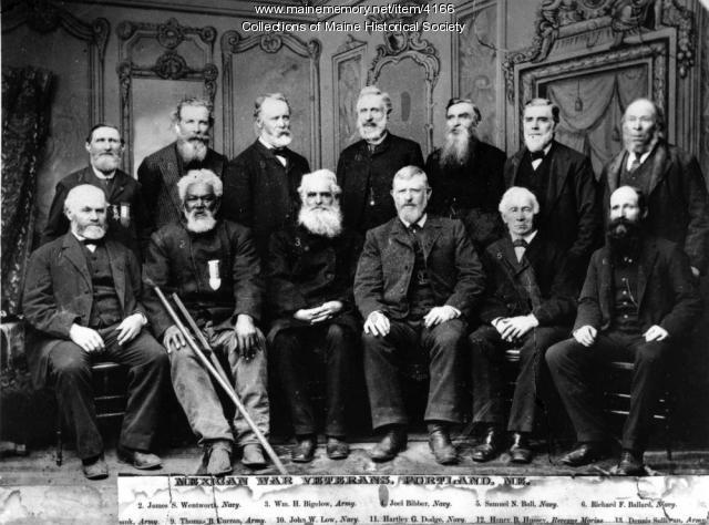 Mexican War veterans, Portland, ca. 1885