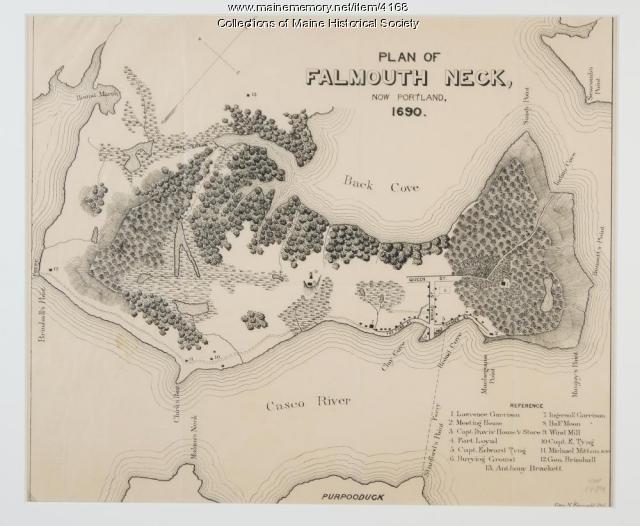 Plan of Falmouth Neck, 1690