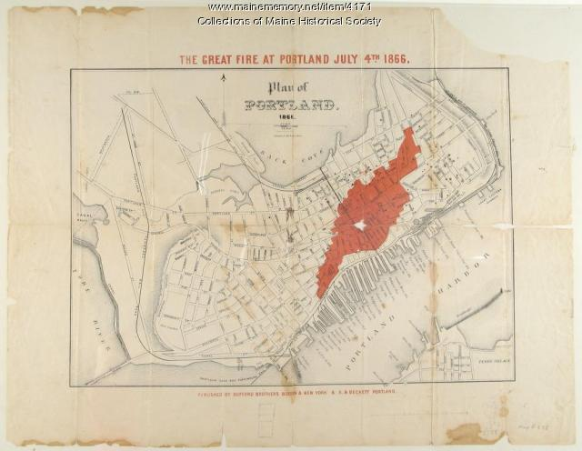 Great fire of Portland 1866