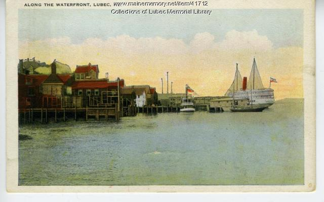 Lubec waterfront, ca. 1912