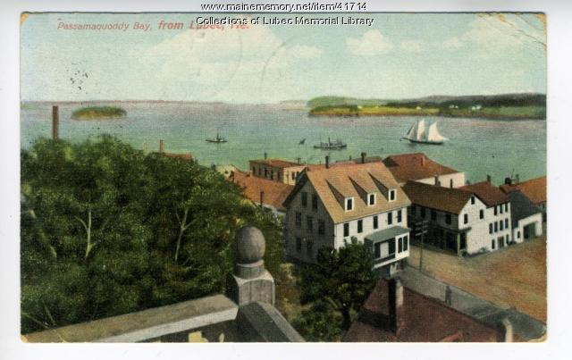 View of Passamaquoddy Bay, Lubec, ca.1908