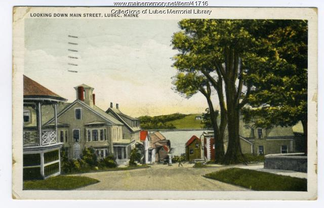 View from Main and Pleasant Streets, Lubec, ca. 1937