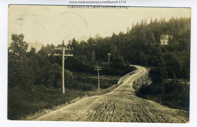 North Lubec Road, ca. 1923