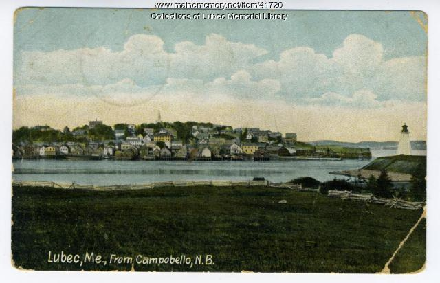 View of Lubec from Campobello Island, ca. 1908