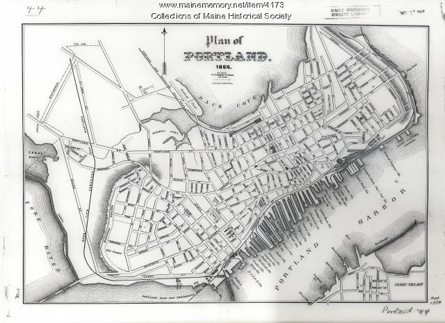 Plan of Portland, 1866
