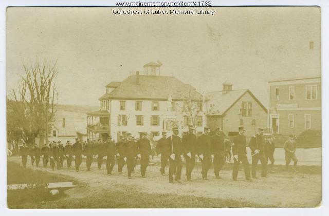 Memorial Day parade, Lubec, 1909