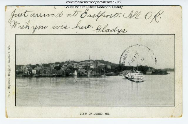 View of Lubec from Eastport, 1904