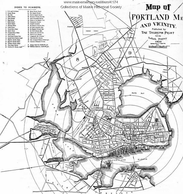 Map of Portland  and vicinity, 1900